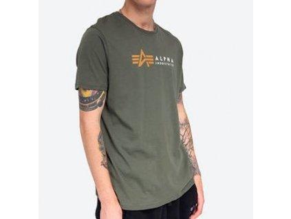 Alpha Industries LABEL T tričko pánske dark olive