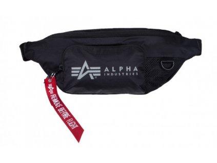 Alpha Industries PACKABLE WAIST BAG black ľadvinka taška