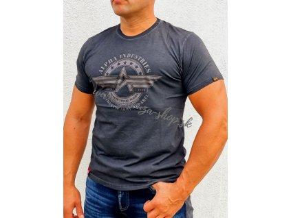 Alpha Industries AI Olidye T tričko pánske black  1