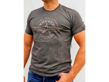 Alpha Industries AI Olidye T tričko pánske dark olive