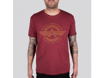 Alpha Industries AI Olidye T tričko pánske RBF Red