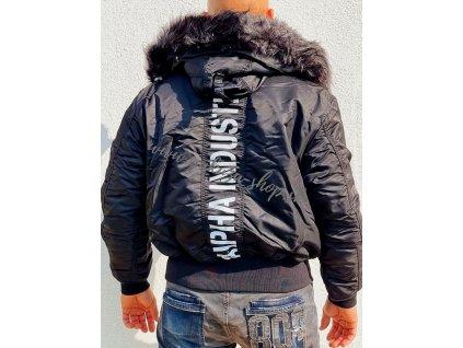 Alpha Industries 45P Hooded Custom zimná bunda black black