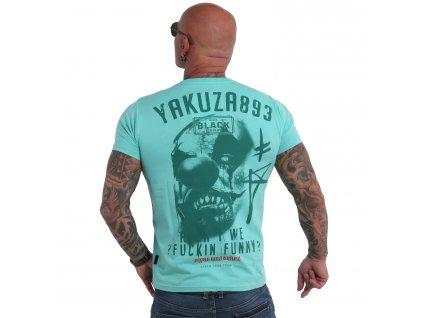 Yakuza tričko pánske Funny Clown TSB 19032 turquoise