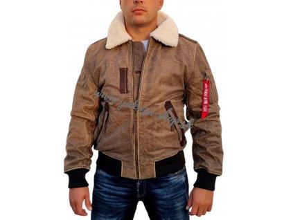 Alpha Industries Injector III Leather zimná kožená bunda vintage 1