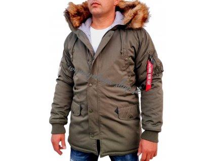 Alpha Industries zimná bunda ARCTIC DISCOVERER dark olive f