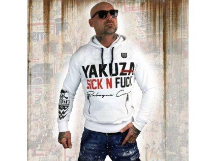 Yakuza SICK N FUCK mikina pánska HOB 11003 white
