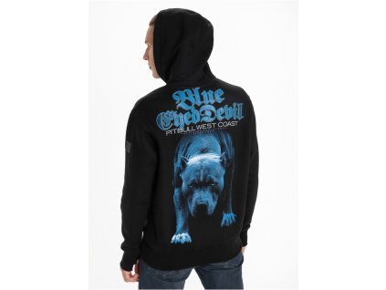 Pitbull West Coast mikina s kapucňou BLUE EYED DEVIL 21 black