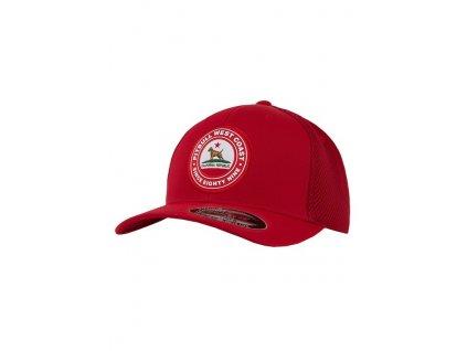 PitBull West Coast šiltovka Full Cap Classic Mesh CALIFORNIA DOG red