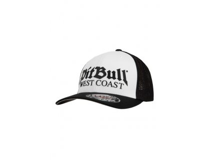 PitBull West Coast šiltovka Full Cap Classic Mesh OLD LOGO white black