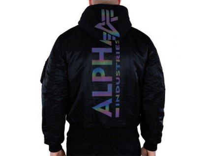 Alpha Industries zimná bunda MA 1 ZH BACK PRINT black rainbow reflective