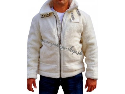 Alpha Industries B3 TEDDY zimná bunda off white
