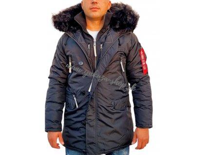 Alpha Industries PPS N3B pánska zimná bunda black reflective a