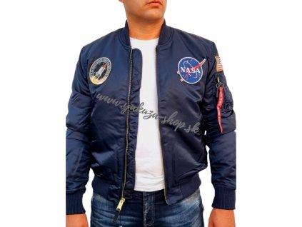 Alpha Industries MA 1 VF NASA LP bunda rep blue
