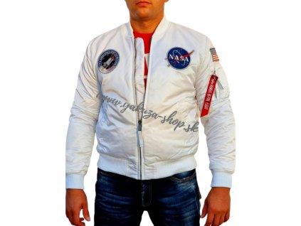 Alpha Industries MA 1 VF NASA LP bunda white