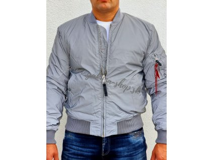 Alpha Industries MA 1 VF 59 Reflective silver bunda pánska
