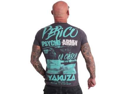 Yakuza tričko pánske PERICO TSB 19025 anthracit
