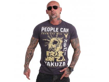 Yakuza tričko pánske PEOPLE TSB 19026 anthracit