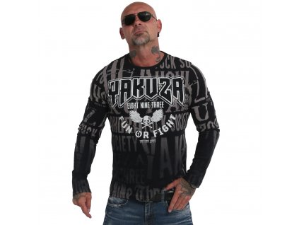 Yakuza tričko pánske s dlhým rukávom FUN OR FIGHT LSB 19045 black