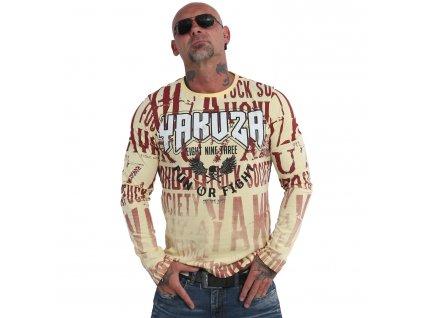 Yakuza tričko pánske s dlhým rukávom FUN OR FIGHT LSB 19045 pale banana