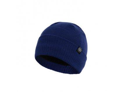 Pitbull West Coast zimná čiapka pletená SMALL LOGO royal blue