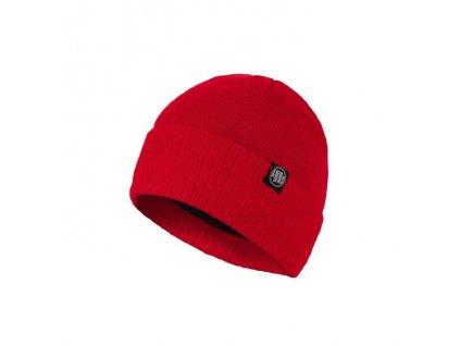 Pitbull West Coast zimná čiapka pletená SMALL LOGO red