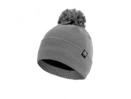 Pitbull West Coast zimná čiapka pletená SMALL LOGO grey s brmbolcom