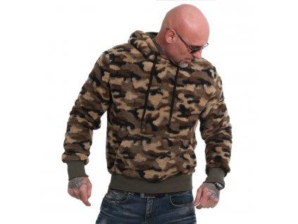Yakuza SHERPA mikina pánska HOB 17089 camouflage