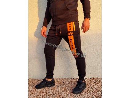 Alpha Industries DEFENCE JOGGER tepláky black orange
