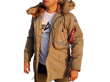 Alpha Industries Polar Jacket pánska zimná bunda Stratos
