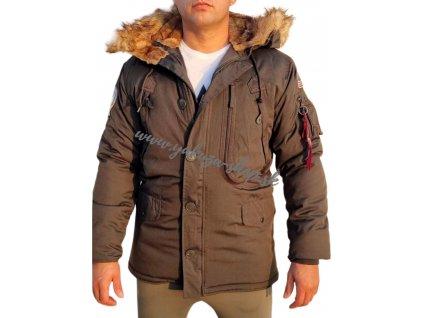 Alpha Industries Polar Jacket pánska zimná bunda Black Olive