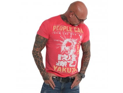 Yakuza tričko pánske PEOPLE TSB 19026 geranium