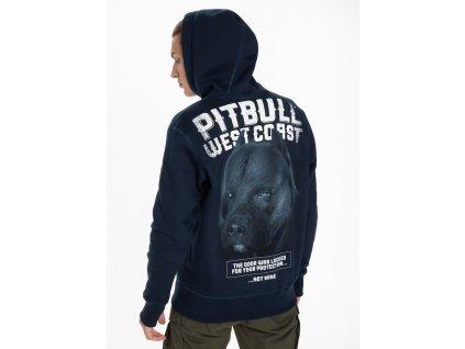 Pitbull West Coast mikina s kapucňou BLACK DOG navy