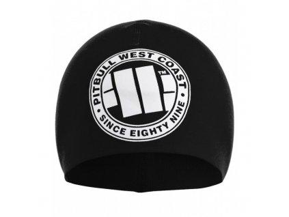 Pitbull West Coast zimná čiapka BIG LOGO black white