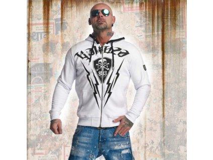 Yakuza THUNDERSTORM mikina na zips HZB 11013 white