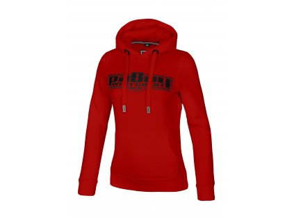 PitBull West Coast dámská mikina CLASSIC BOXING ll red s kapucňou