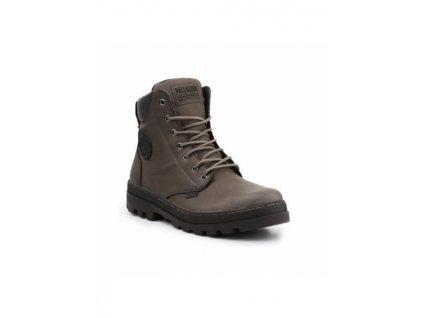 Palladium módne topánky PAMPA HI ZIP WL MAJOR BROWN