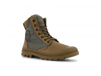 Palladium módne topánky PAMPA SPORT CUFF WPN DEAR BROWN