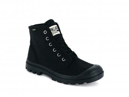 Palladium módne topánky PAMPA HI ORIGINALE BLACK BLACK E