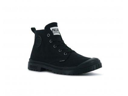 Palladium módne topánky PAMPA SP20 HI CANVAS BLACK BLACK a