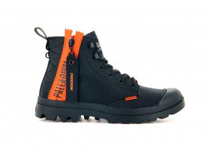 Palladium módne topánky PAMPA UNLOCKED BLACK BLACK