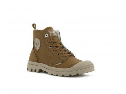 Palladium módne topánky PAMPA HI ZIP WL DEAR BROWN