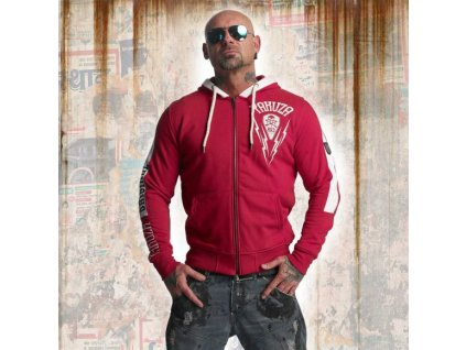 Yakuza THUNDER ZIP mikina na zips HZB 11012 ribbon red