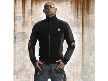 Yakuza PUNX TWO FACE TRACK TOP mikina na zips ZB 11020 Black