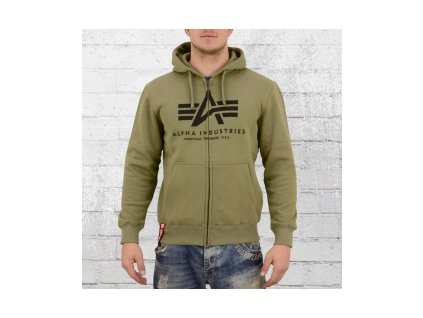 vyr 6217Alpha Industries Basic Zip Hoody panska mikina olive