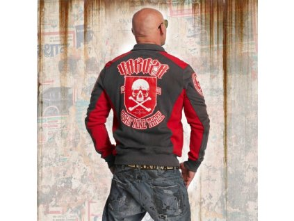 Yakuza CROSS BONES TRACK TOP mikina na zips ZB 11022 dark shadow