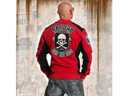 Yakuza CROSS BONES TRACK TOP mikina na zips ZB 11022 ribbon red