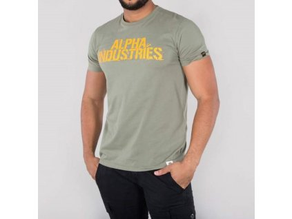 Alpha Industries Blurred T olive tričko pánske
