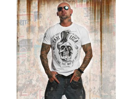 Yakuza tričko pánske ADDICTED TSB 11038 white