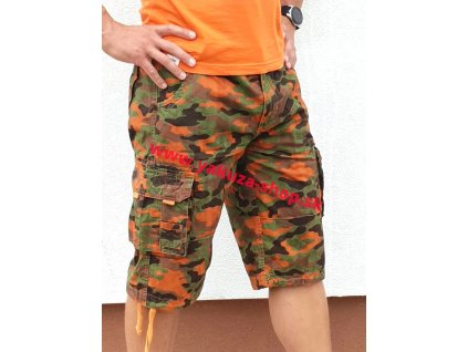 Alpha IndustriesAlpha Industries Jet Short Orange camo pánske šortky