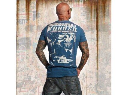 Yakuza tričko pánske SHADOWPLAY TSB 11032 mallard blue